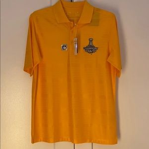 🏒 NWT Pittsburgh Penguins Stanley Cup Champ Polo